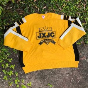 Juicy Couture Madison Yellow Racer Crest Sweater
